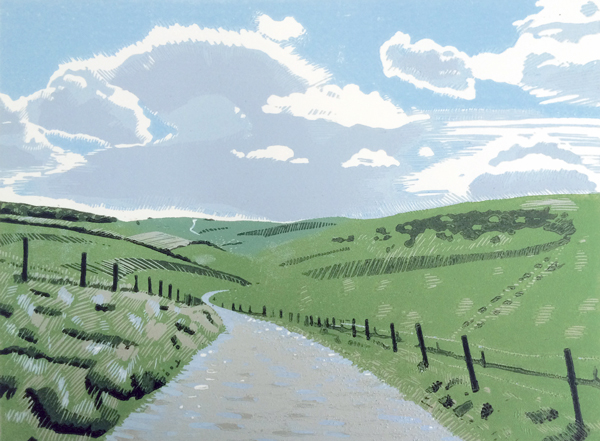 Ditchling Beacon Oil on board