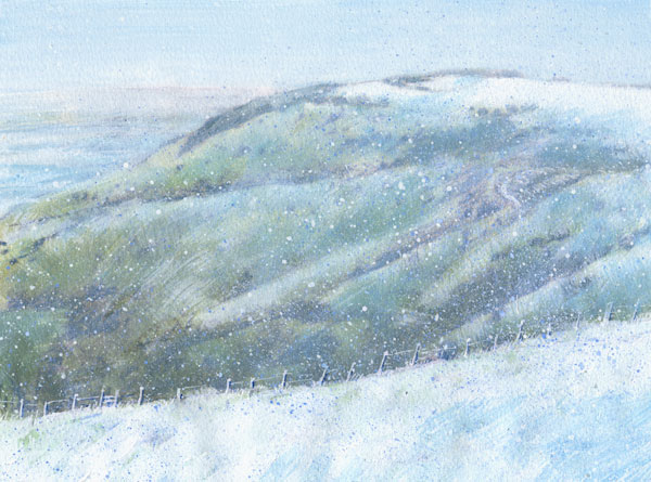 Ditchling Beacon in snow