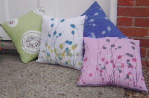 Polly's textiles cushions