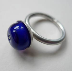 Blue lilac Silver Ring